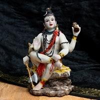 カラフルレジンの神様像 - ダムルーを持つシヴァ[17cm]