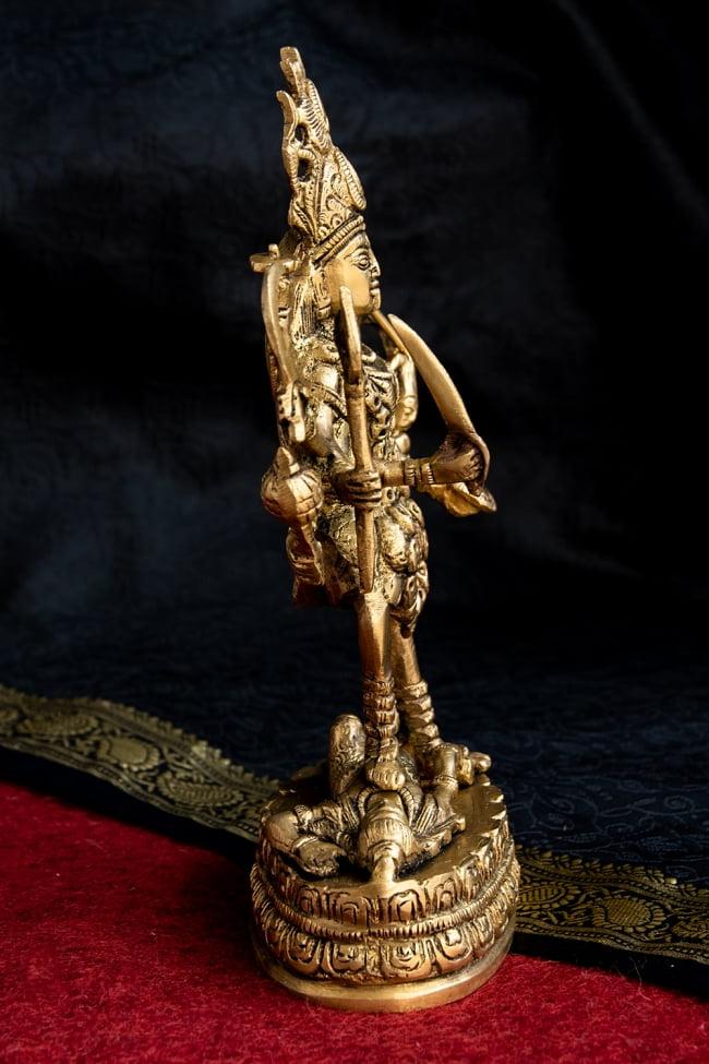ブラス製 カーリー立像 - 23cm 6 - 横から見てみました。