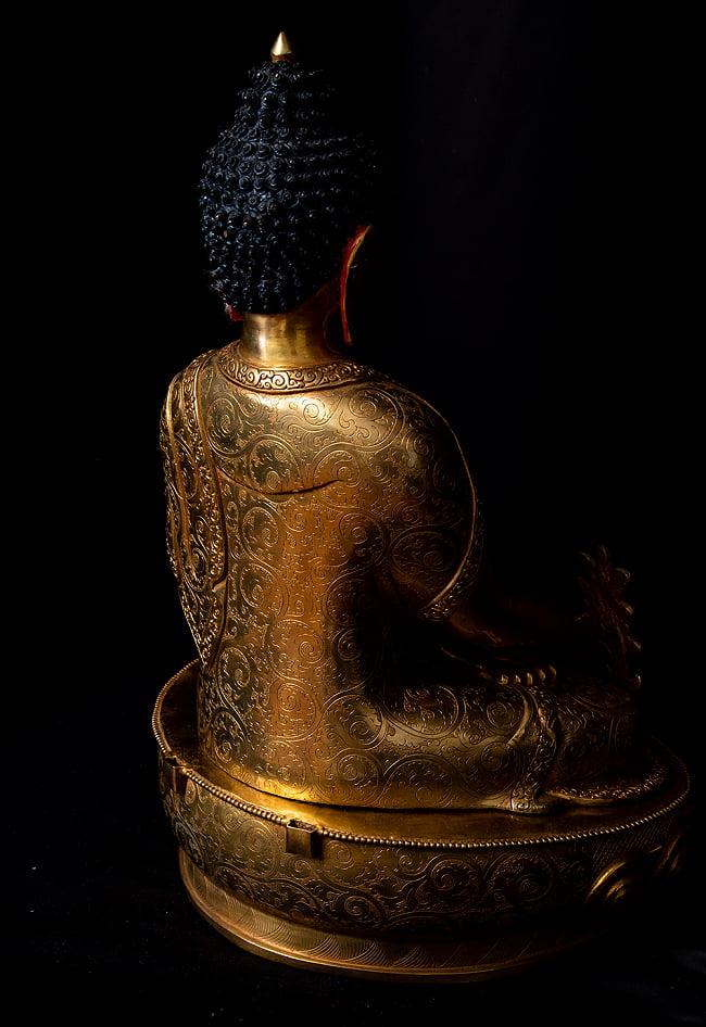 薬師如来(バイシャジヤ・グル) 銅造鍍金仕上げ - 54cm 20 - 細部をみてみました。
