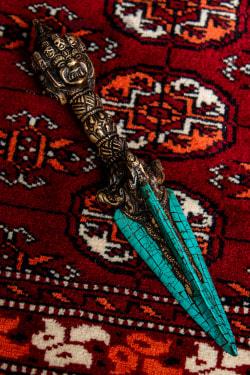 ターコイズ装飾 プルパ(キーラ・金剛蕨) - 22.5cmの商品写真