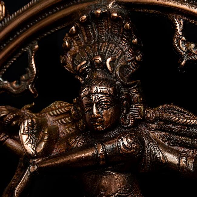 ダンシング・シヴァ(45cm) 2 - 精悍な顔つきのシヴァ神です