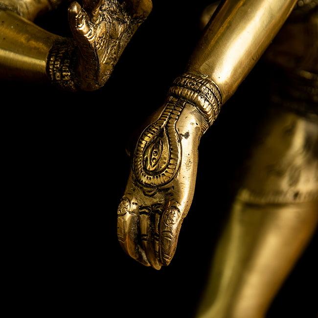 ダンシング・シヴァ 超特大 - 100cm 11 - 手の甲まで細かに造作されています。