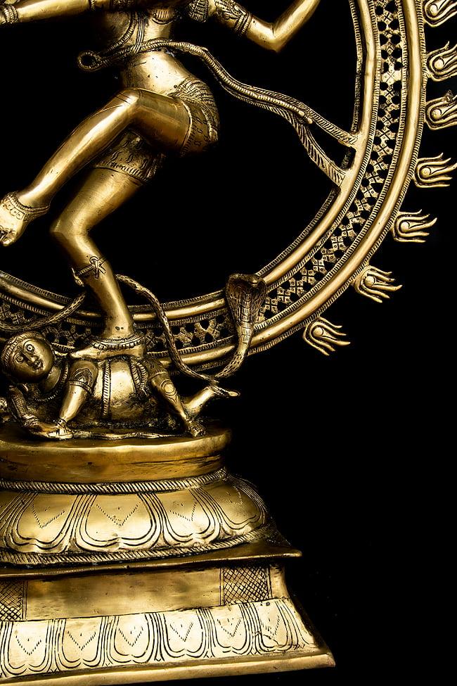 ダンシング・シヴァ 超特大 - 100cm 17 - 焔の光輪を背負っています。