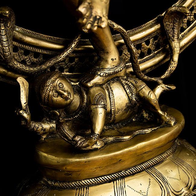 ダンシング・シヴァ 超特大 - 100cm 19 - 踏みつけにされている悪鬼の様子です。