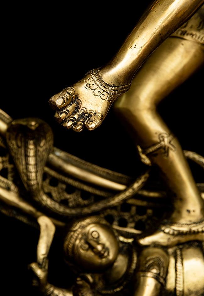 ダンシング・シヴァ 超特大 - 100cm 20 - 脚も細かに彫り込まれています。