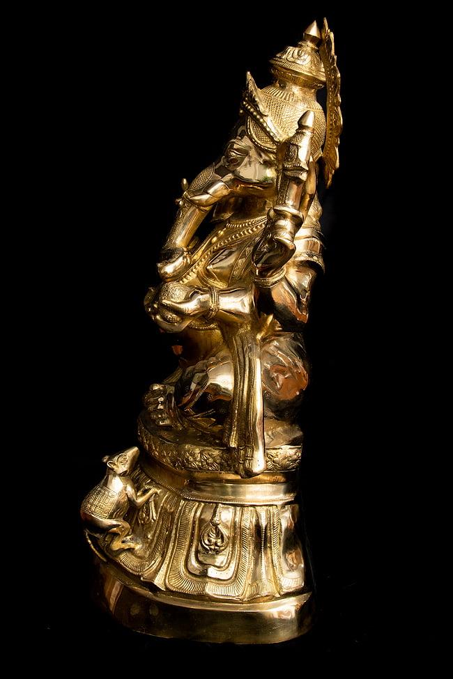 金運と幸運の神様 ガネーシャ像 [特大サイズ・約89cm] 14 - 横から見てみました。