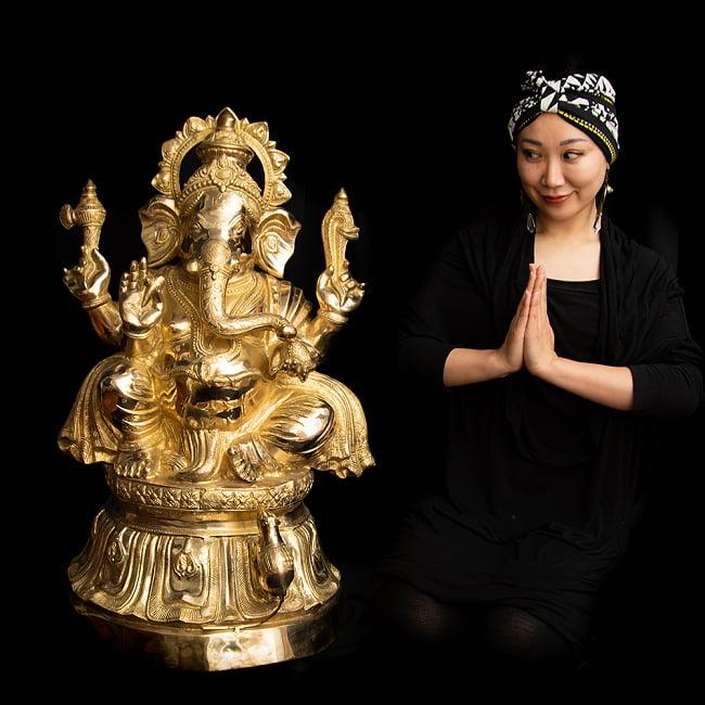 金運と幸運の神様 ガネーシャ像 [特大サイズ・約89cm] 16 - 非常に大きなガネーシャです。