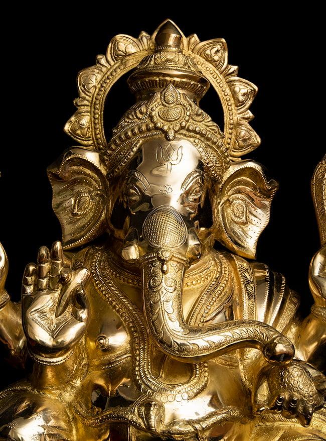 金運と幸運の神様 ガネーシャ像 [特大サイズ・約89cm] 2 - とても綺麗な顔をしています