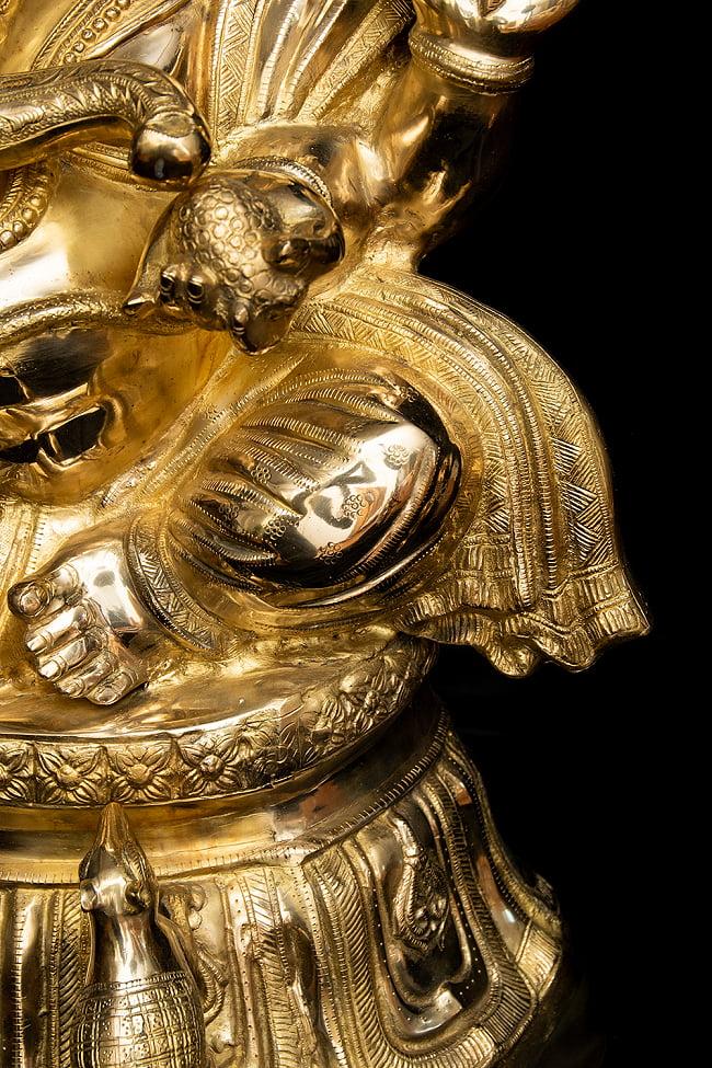 金運と幸運の神様 ガネーシャ像 [特大サイズ・約89cm] 9 - 細部まできちんとした作りです