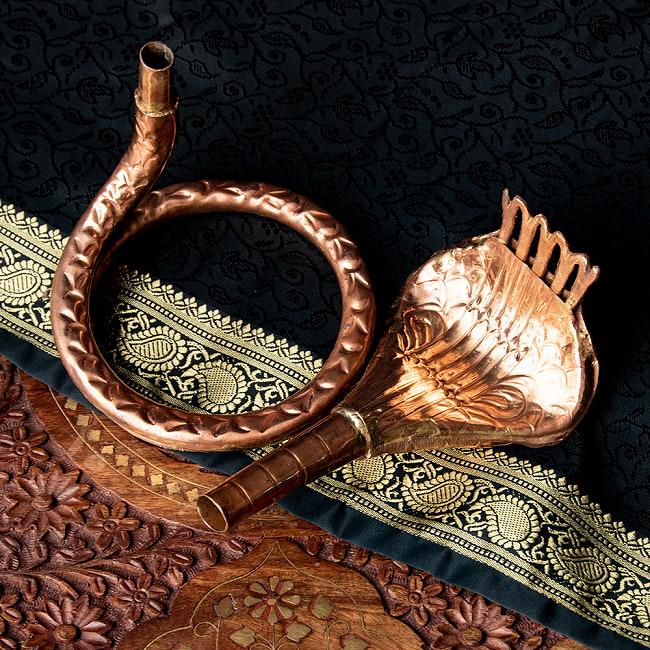 聖なる蛇 ナーガ 銅製 高さ:24.5cm程度 5 - このように分解した形でお届けいたします。