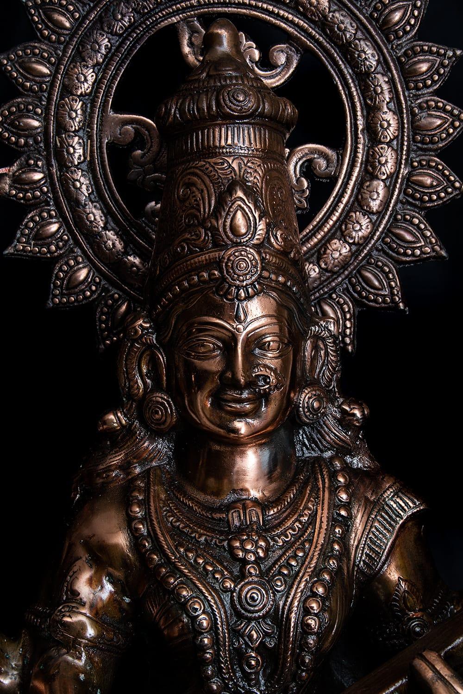 サラスバティー[88cm] 2 - 厳かな趣のある神像です。