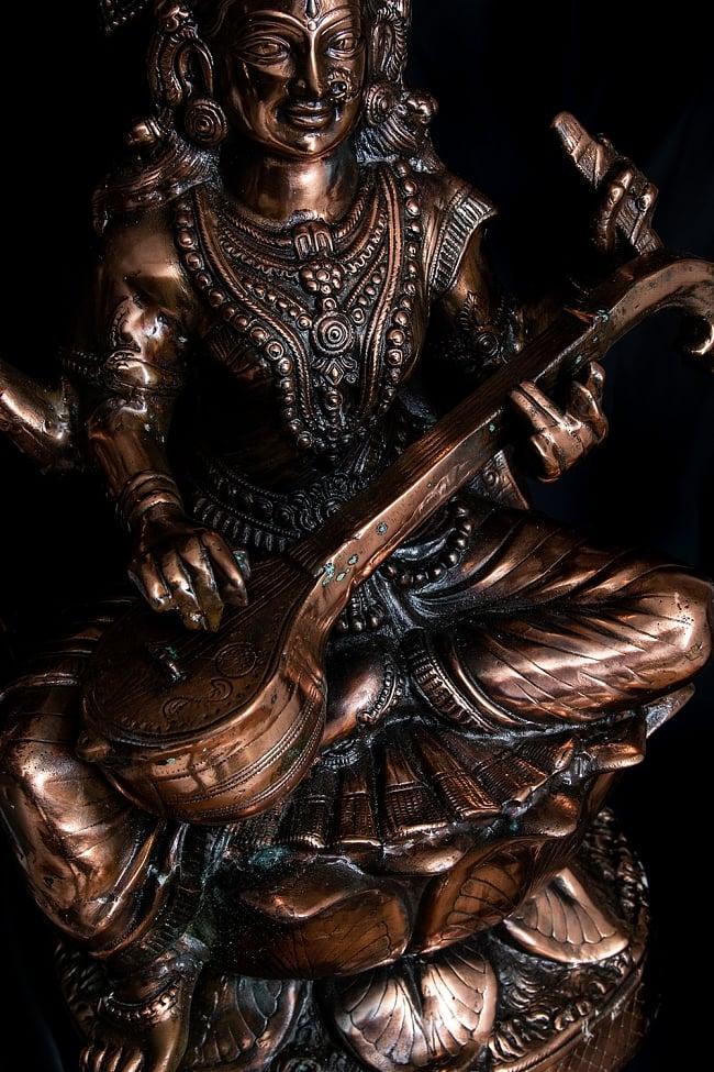 サラスバティー[88cm] 6 - ヴィーナと呼ばれる楽器を手に持っています。