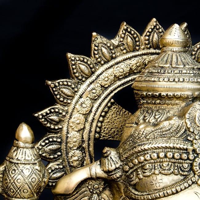 金運と幸運の神様 ガネーシャ像 [特大サイズ・約85cm] 10 - 後光の部分の拡大です