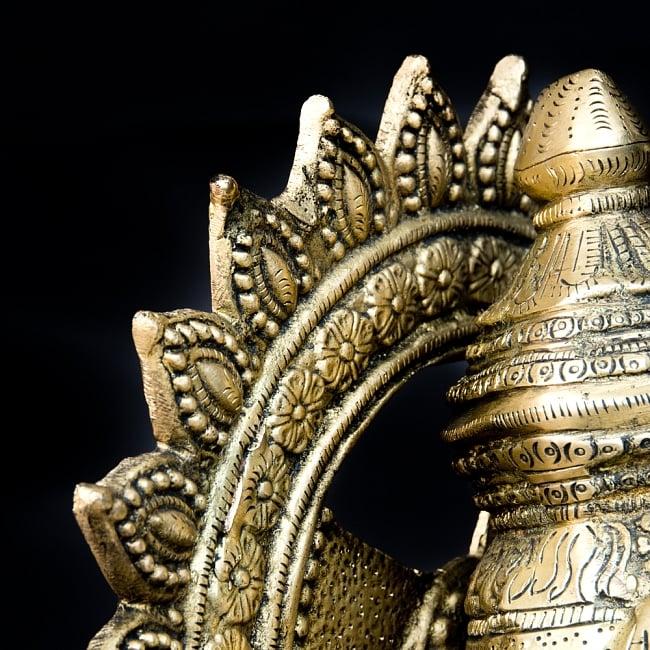 金運と幸運の神様 ガネーシャ像 [特大サイズ・約85cm] 14 - 後光部分の横からの拡大写真です