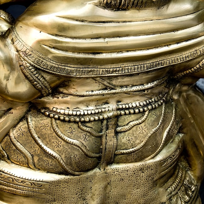 金運と幸運の神様 ガネーシャ像 [特大サイズ・約85cm] 17 - 後ろから見ても、しっかりとした作り