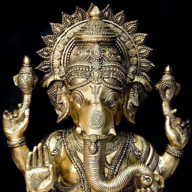金運と幸運の神様 ガネーシャ像 [特大サイズ・約85cm] 2 - とても綺麗な顔をしています