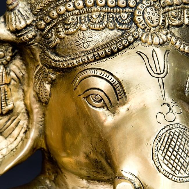 金運と幸運の神様 ガネーシャ像 [特大サイズ・約85cm] 8 - 目元も綺麗です