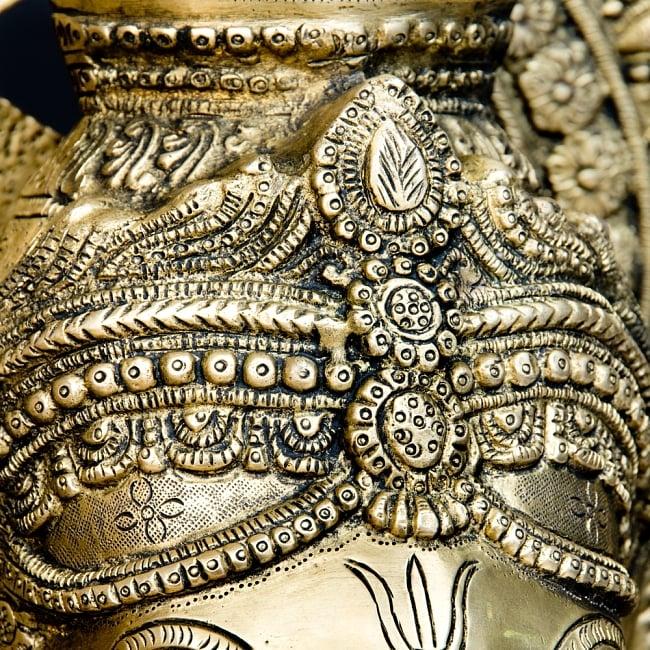 金運と幸運の神様 ガネーシャ像 [特大サイズ・約85cm] 9 - 細部まできちんとした作りです