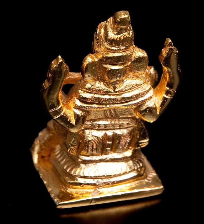 輝くゴールデンガネーシャ像【6cm】 4 - 裏面です