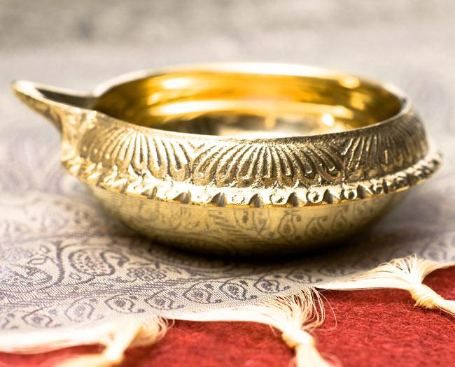 ディア・オイルランプ&灰皿【外径10cm】 2 - 真横から撮ってみました。