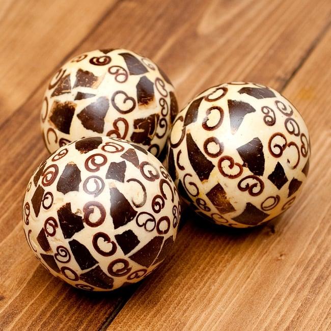 シナモン香り玉 【ベージュ四角】 4 - 1つ1つデザインが異なります。