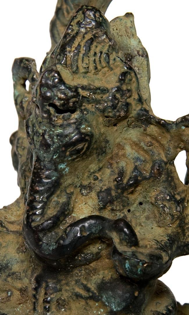 ガネーシャ(13.8cm)の写真3 - 顔の拡大写真です。