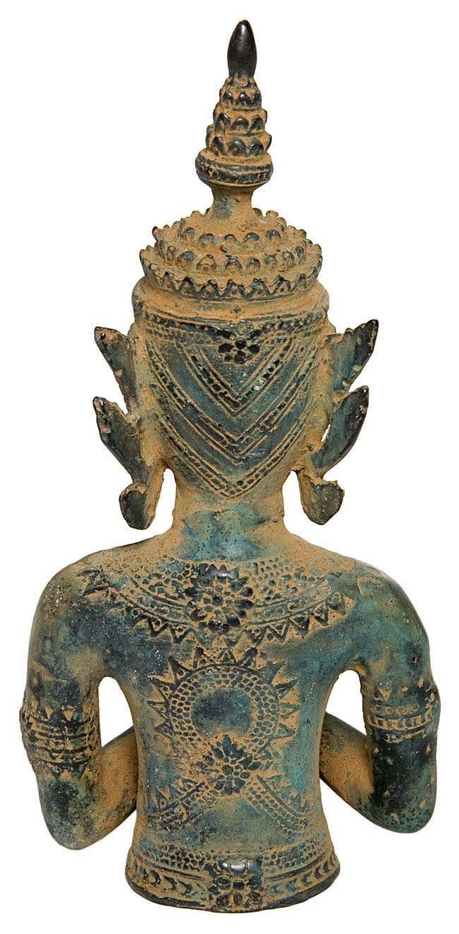 タイの神様像(19.5cm)の写真4 - 裏側はこんなかんじです。
