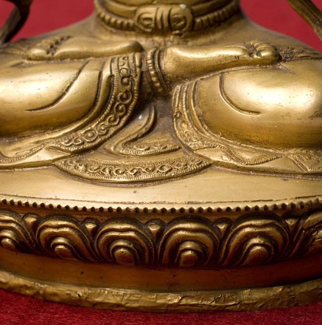 白多羅菩薩 - ホワイトターラー[31cm] 9 - 台座の部分です