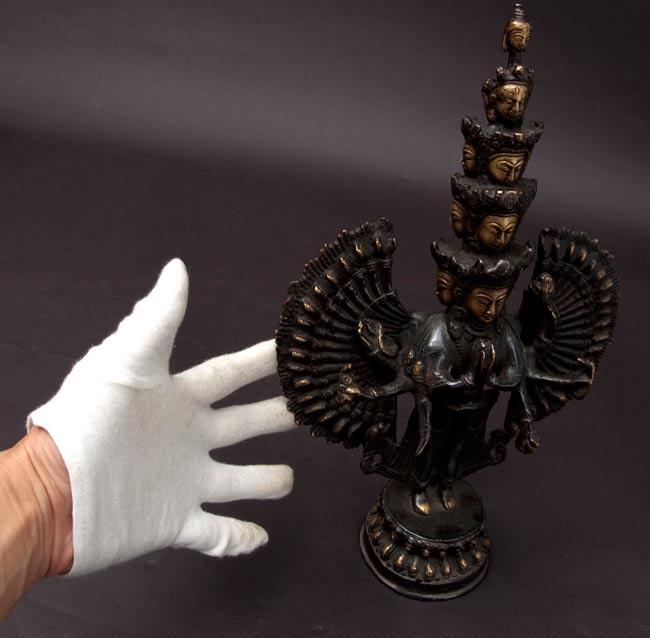 エーカダーシャムカ・アヴァローキテーシュヴァラ - 十一面観音菩薩[26cm]の写真9 -