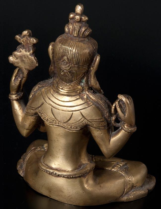 六字観音菩薩(シャドゥクシャリー・アヴァローキテーシュワラ)[16cm]の写真6 - 裏面です