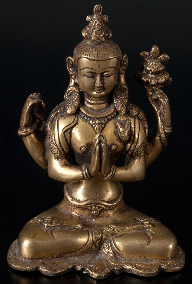 六字観音菩薩(シャドゥクシャリー・アヴァローキテーシュワラ)[16cm]の写真