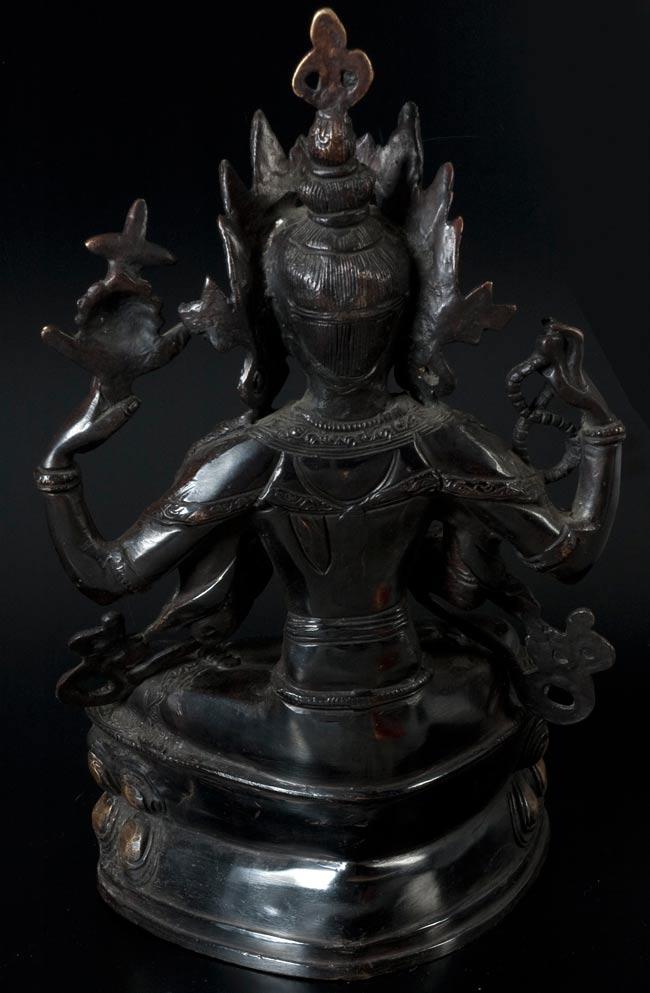 六字観音菩薩(シャドゥクシャリー・アヴァローキテーシュワラ)[37cm]の写真6 - 裏面です