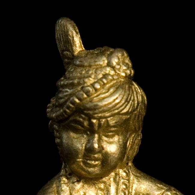 ベイビークリシュナ(高さ:4.3cm)の写真3 - お顔の拡大写真です。