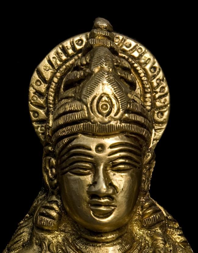 サラスヴァティ(高さ:16.6cm)の写真4 - お顔の拡大写真です。