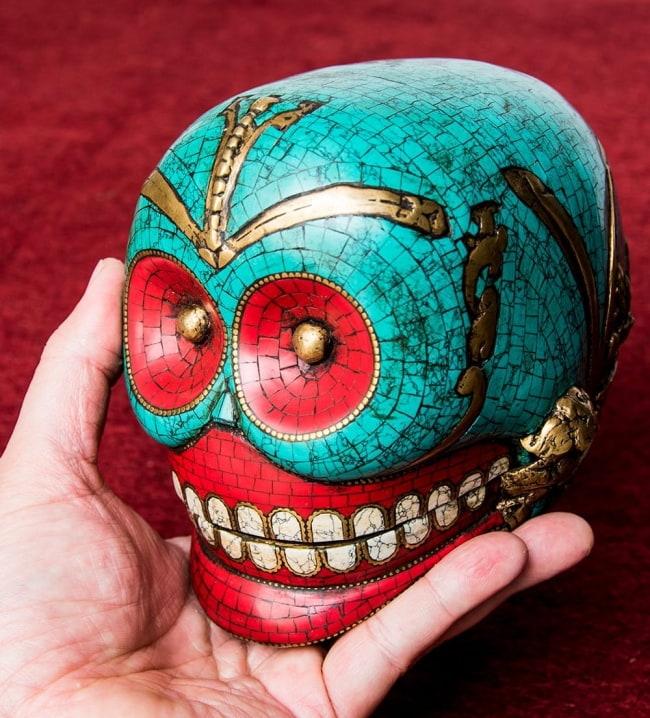【高品質】チベット密教法具 頭蓋骨杯 カパーラ 13 - 手に取るとこれくらいのサイズ感です。