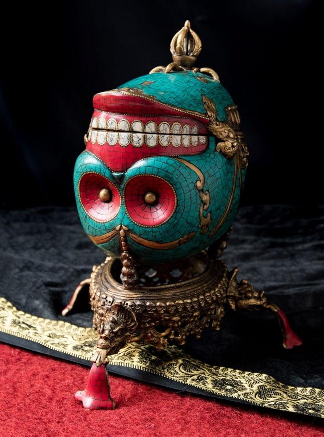 【高品質】チベット密教法具 頭蓋骨杯 カパーラの写真