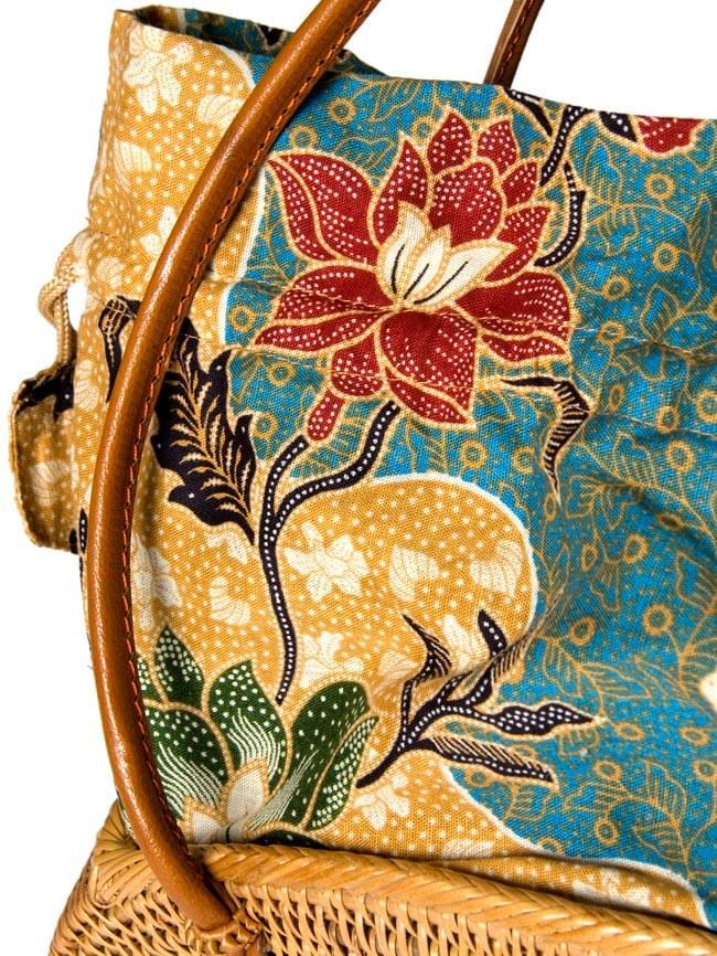 アタかご 巾着バッグ 発祥の地トゥガナン村で手作り 5 - ハンドメイドのぬくもりを感じます