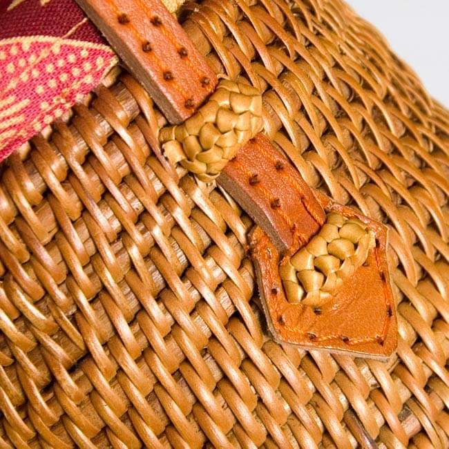 トゥガナン村のアタ ミニポーチ 4 - 細かい部分も丁寧に作られています
