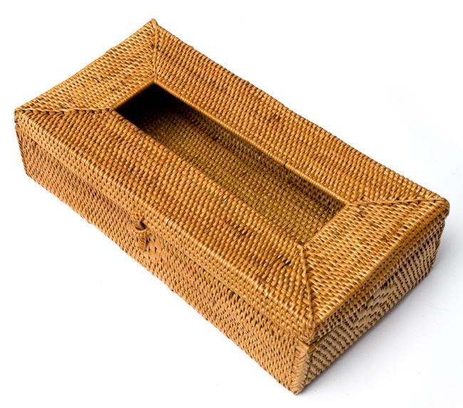 トゥガナン村のアタ ティッシュケース 5 - 角度を変えてみてみました。