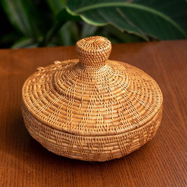 トゥガナン村のアタ タジン鍋型小物入れ 【14cm】の写真
