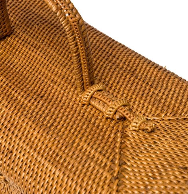 トゥガナン村のアタ スクエアバスケットの写真4 - 丁寧に編みこまれて素敵です