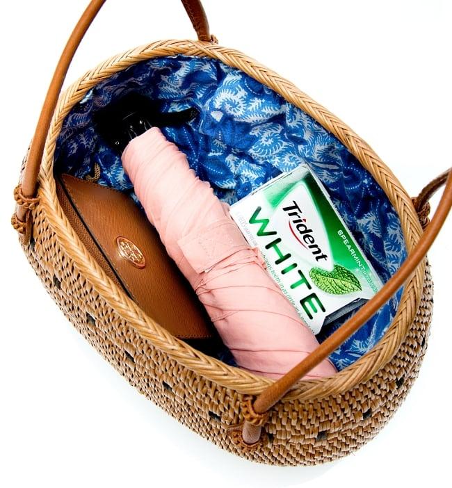 アタかご巾着バッグ 発祥の地トゥガナン村で手作り 11 - バッグの中です。見やすいように巾着を内側に入れて撮影しています。