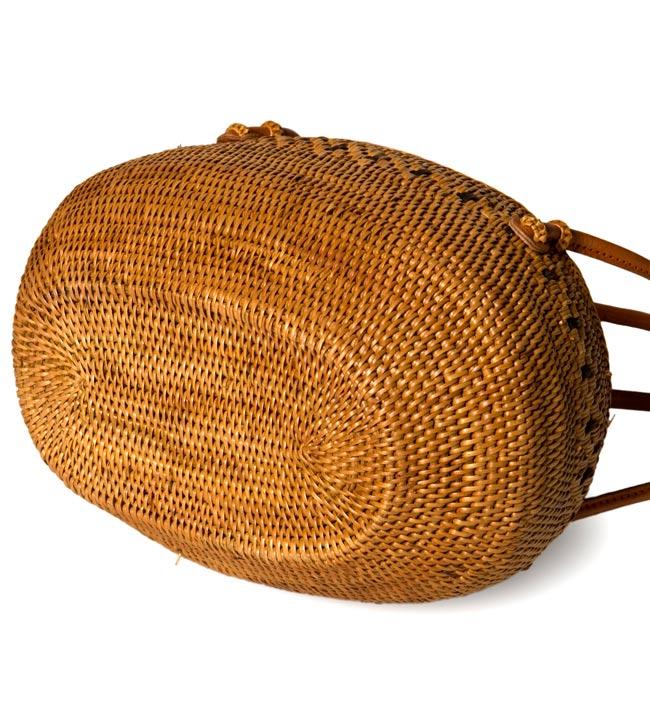 アタかご巾着バッグ 発祥の地トゥガナン村で手作り 3 - サイドからの写真です