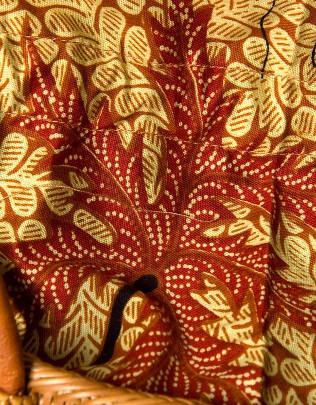 アタかご巾着バッグ 発祥の地トゥガナン村で手作り 5 - ハンドメイドのぬくもりを感じます