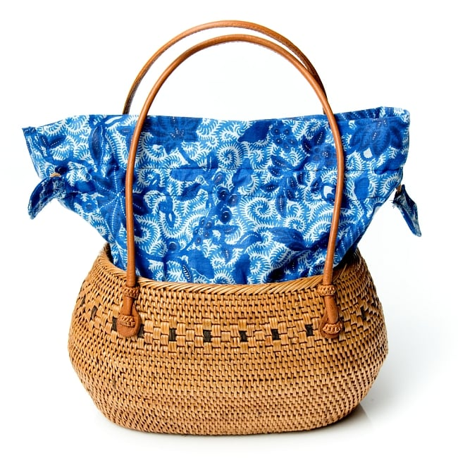 アタかご 巾着バッグ 発祥の地トゥガナン村で手作り 9 - 巾着を広げてみたところです