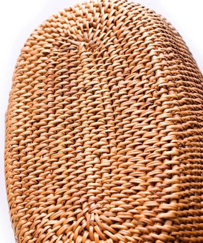 アタバッグ【 約15cm x 26cm 】 4 - 裏面です。丁寧に編み上げられているので、極めて安定性が高いです