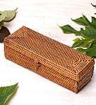 トゥガナン村のアタ 蓋付き長方形小物入れ 【約18cm×約6cm】