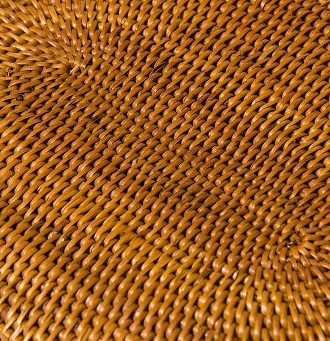 トゥガナン村のアタ 楕円薄小皿 【22cm】の写真5 - 一目一目、丁寧に編まれています