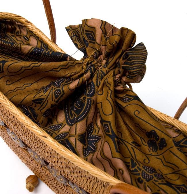 アタバッグ【約17cm x 31cm】 4 - 口は紐で縛れるようになっています。