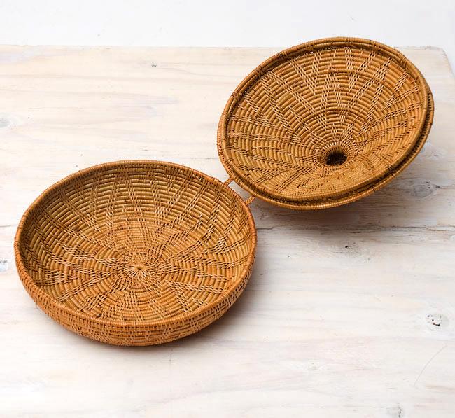 トゥガナン村のアタ タジン鍋型小物入れ 【23cm】の写真2 - フタを開けてみました